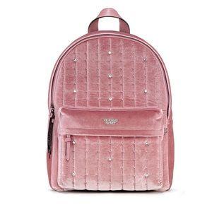 Victoria's Secret pink velvet backpack